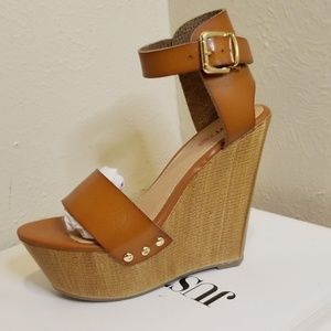 Justfab wedge sandal oralee